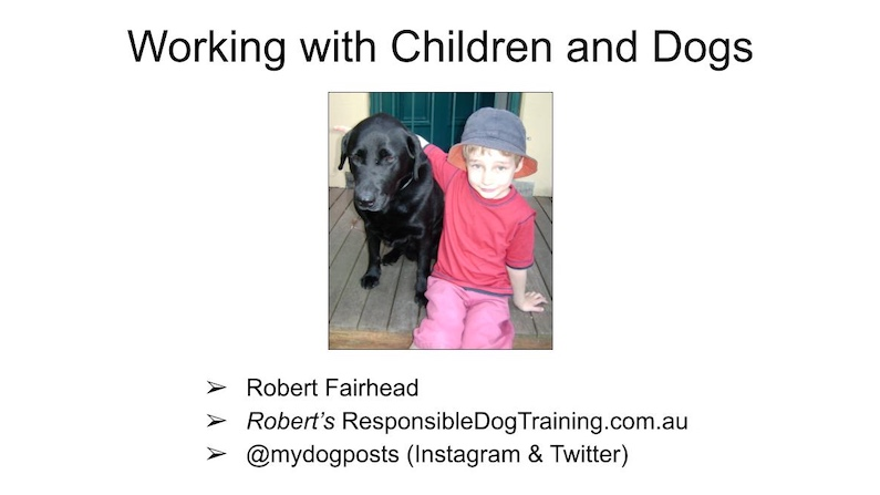 Working With Children And Dogs - Writing Presentations