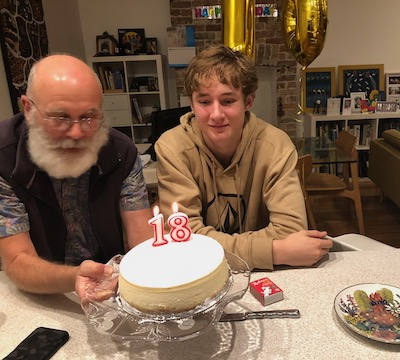 Being a Dad with the New Adult's 18th birthday cake